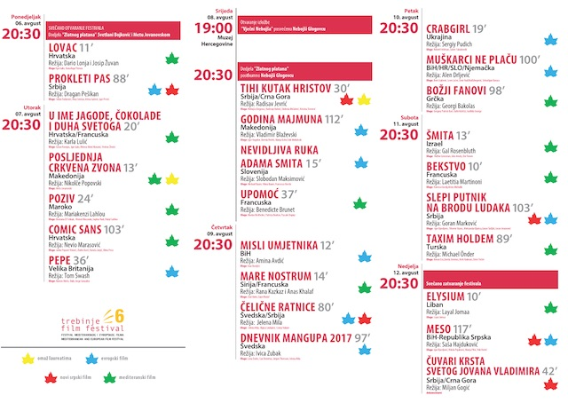 180806 Program Trebinje film festivala 2018